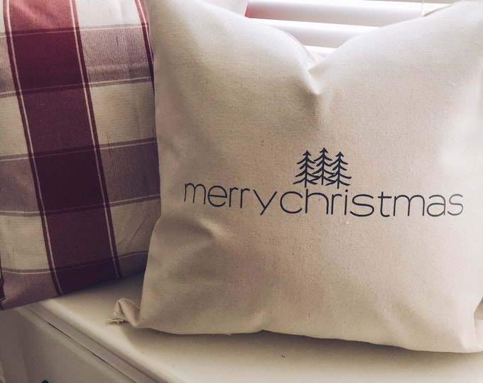 Merry Christmas Pillow Cover/Decorative Pillow
