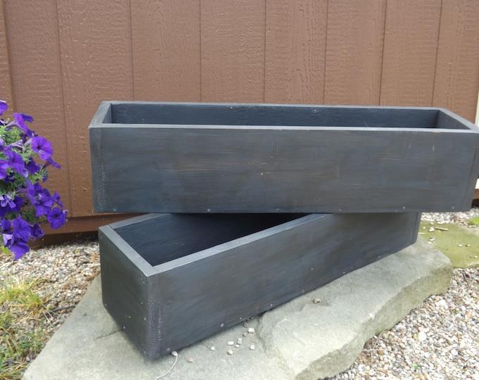Window nox/Outdoor planter boxes/window planter/flower box/table trough/Cedar window planter/Wood planter box