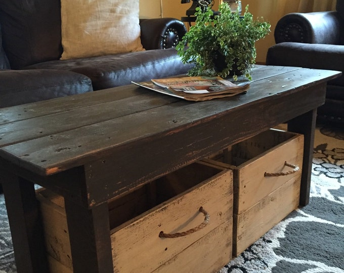 Coffee table/Wood table/Farmhouse table/Entryway bench/Mudroom bench