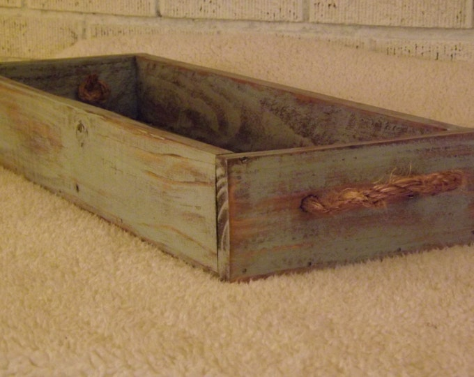 Wood planter/centerpiece/indoor/outdoor/table tray/serving tray/table trough