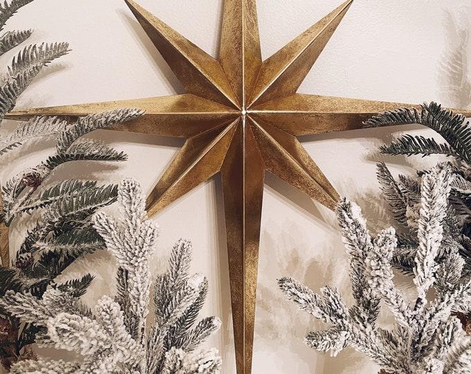 Distressed Metal Gold Star