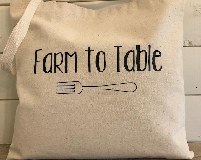 Tote bag, Farm to Table bag, Market bag