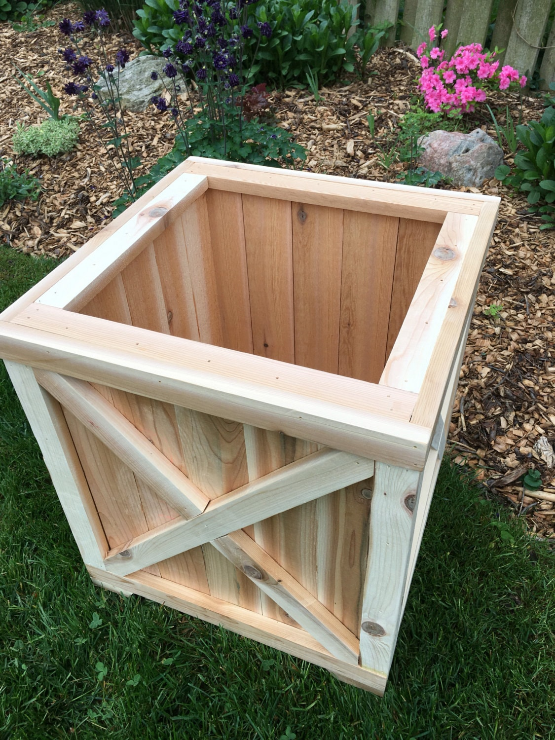 Cedar Planter Box/Planter/Wood Planter/Cedar Box/Outdoor Wood ...