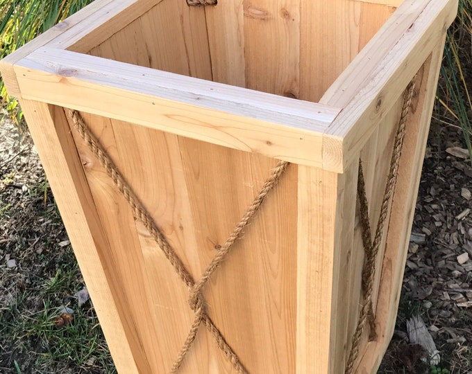 Entryway planter/Tall planter/flower box/Entrance planter/Wedding/Outdoor wood planter/Wood planter box