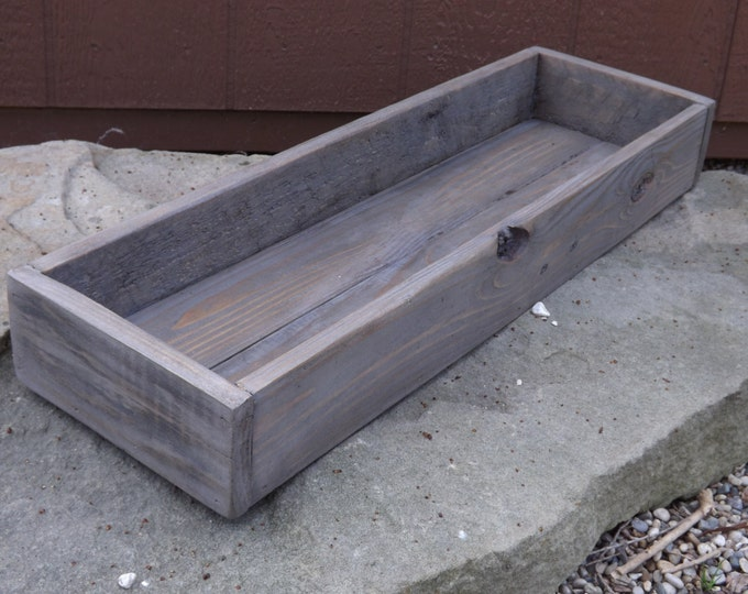 Wood tray/Trough/Wood centerpiece/Table trough/Wedding centerpiece/Table centerpiece/Wood planter/Succulent planter