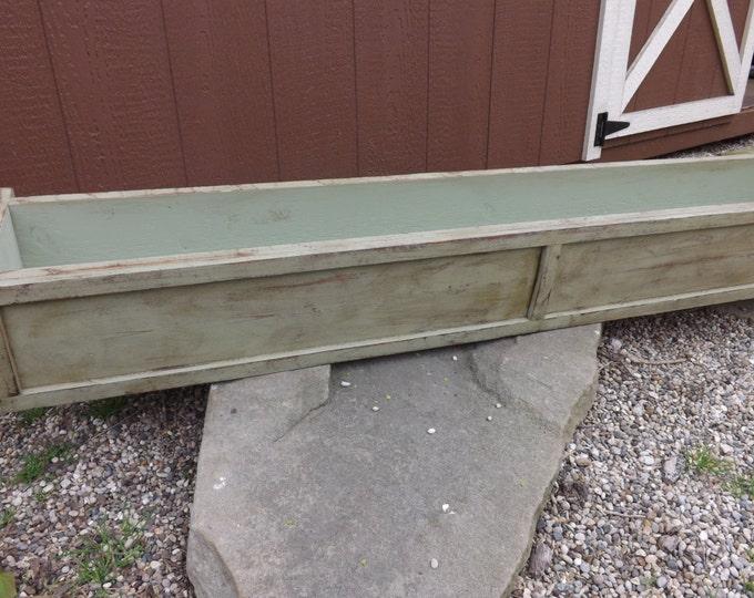 Distressed cedar window box/Wood planter box