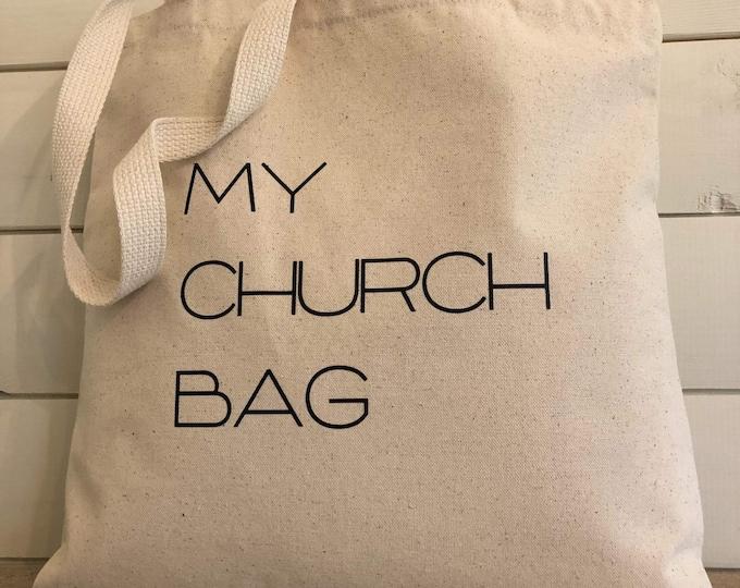 Tote bag, My church bag
