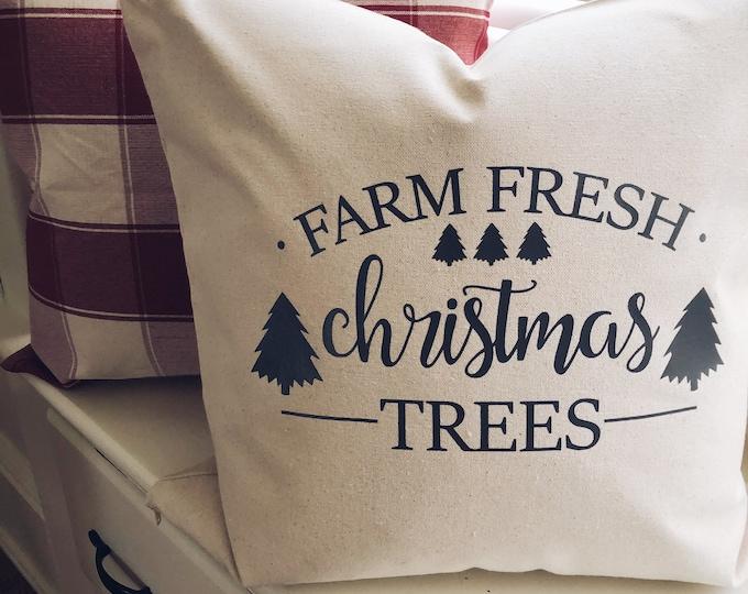 Farm Fresh Christmas Trees Pillow Cover/Christmas Pillow/Decorative Pillow