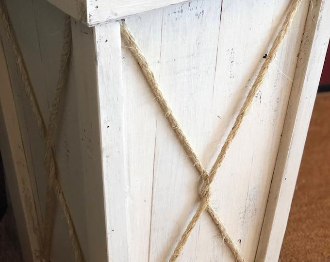 Tall wood planter/Entryway planter/Wedding planter/Wood planter box