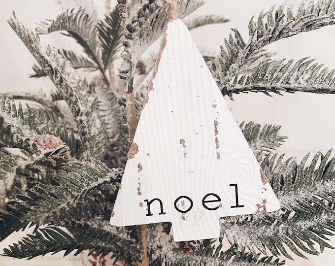 Noel Wood Christmas Ornament