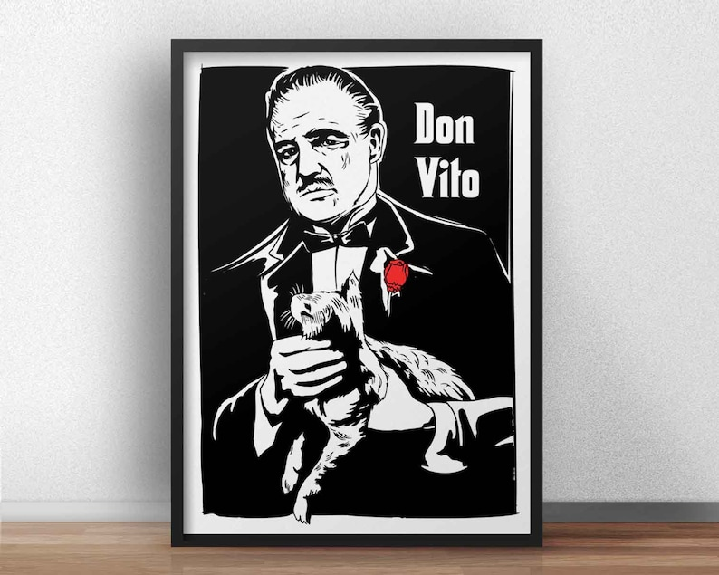 The Godfather film inspired - El Padrino Don Vito Corleone - Movie poster  wallart print  cult classic movie