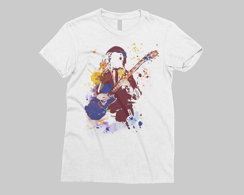 4ed891646 Angus Young ACDC camiseta manga corta Hard rock artist music