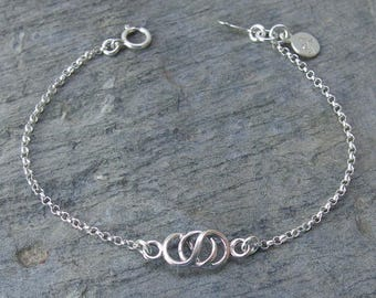 Infinity sister bracelet best friend bracelet personalized friend bracelet infinity jewelry friend gift Friendship bracelet sister jewelry