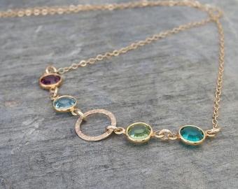 Grandma necklace Mothers necklace Birthstone necklace Family necklace Mothers birthstone necklace Personalized grandma gift mom jewelry