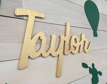 Large Personalized Wood Name Sign