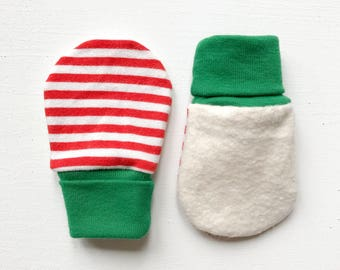 magic baby mitts | peppermint stripe