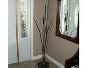 Metal Cattail Free-Standing Design Or Garden Stake: Metal Bulrush | Handcrafted Metal Art | Interior Decor & Garden Ornament - Practical Art
