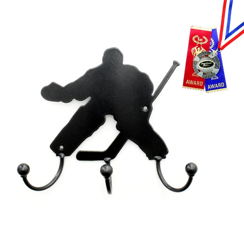 Hockey Wall Art Gifts Metal Art Hockey Goalie Silhouette Etsy