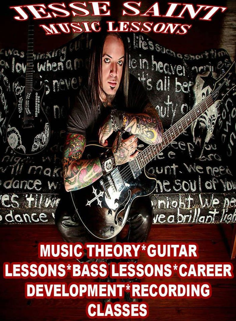 Music Lessons 1 hour Guitar or Bass lesson via Skype!