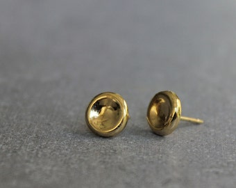 Tiny gold stud earrings, Small post earrings, Simple earrings, minimalist earrings.