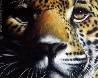 Wild Chiaroscuro - Original Leopard Painting | Wildlife Art by Roberto Rizzo