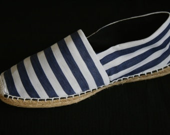 Striped espadrilles / seaworthy espadrilles /espadrilles /striped shoes / seaworthy slippers