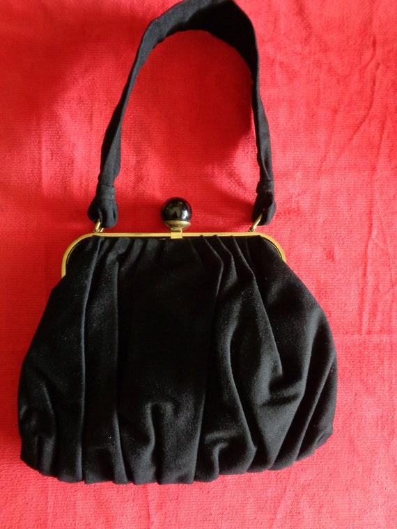 1940's Handbag black fabric Koret label.