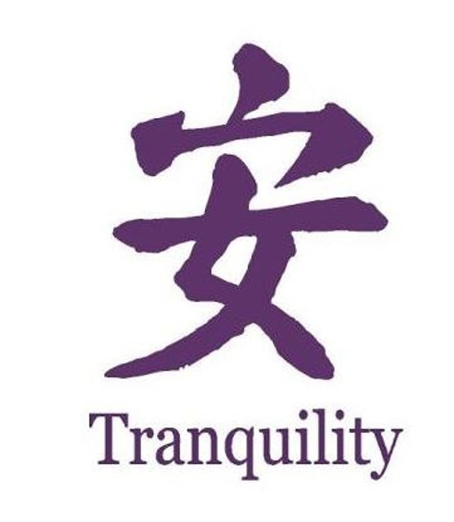 Chinese Symbol For Tranquility Wall Or Car Decal Etsy