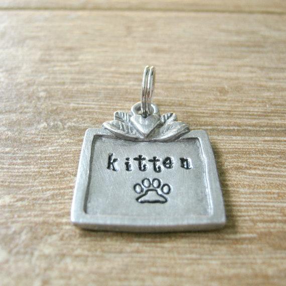 Kitten Collar Tag Pet Play Collar Tag Submissive Collar Tag DDLG Collar Charm BDSM Day Collar Tag