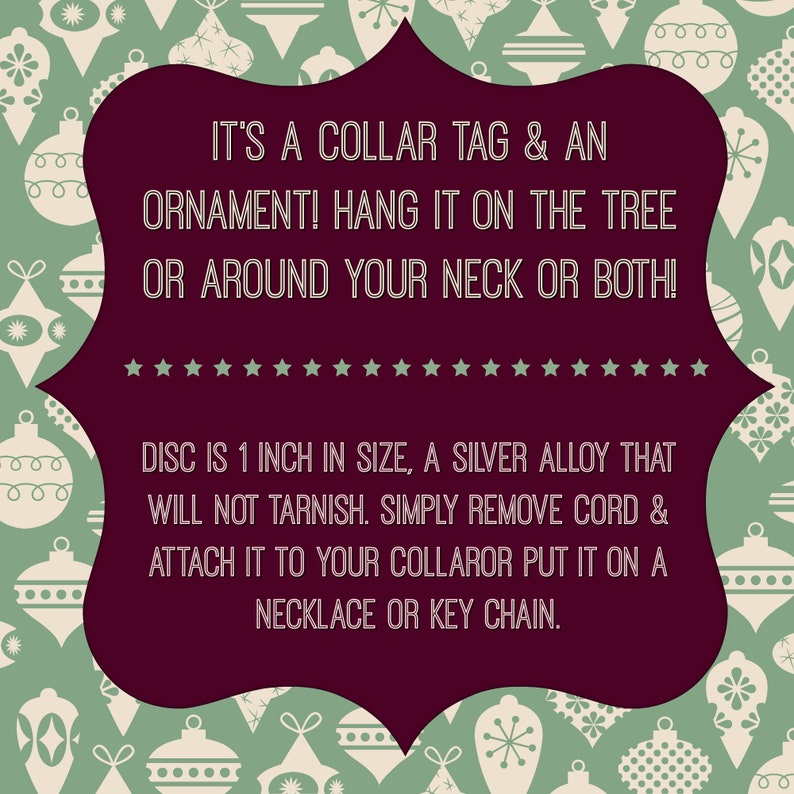 hang it on the tree or wear around your neck Snowflake Slut Collar tag and ornament Christmas collar tag Winter collar DDlg ornament