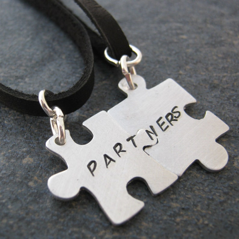 plz read listing sub fetish dom MASTER and slave Connecting Puzzle Piece Necklace Set set of 2 bdsm jewelry sir pet