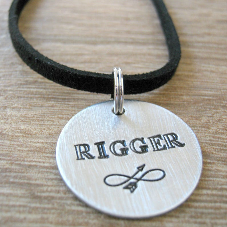 ball chain or leather cord Rigger Necklace Bondage Necklace Bondage Master Necklace Personalized Slave Necklace