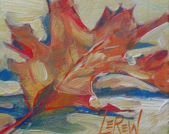 alla prima, leaf, daily painting, painterly, still life, Larry Lerew, autumn, foliage, fall season, leaves, loose, impressionism, tree art,