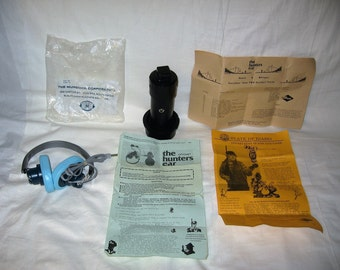 vintage 1982 optomet sto the hunters ear electronic listening device with murdock headphones
