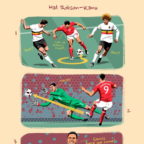 Hal Robson-Kanu Wales Euro 2016 Picture Best Quality Poster Photo Kunst Antiquitäten & Kunst