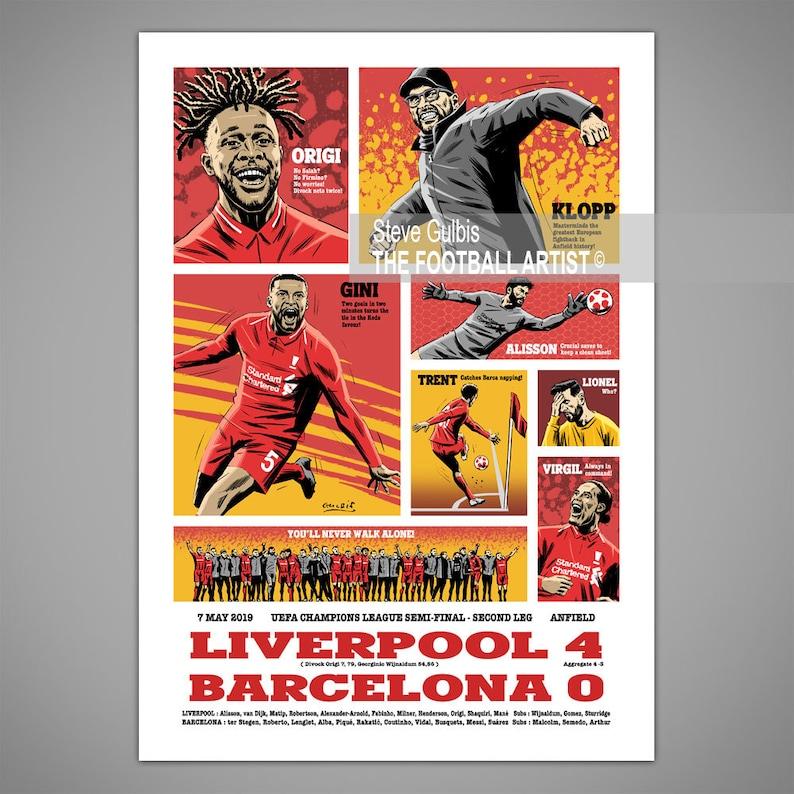 LIVERPOOL 4 BARCELONA 0 ANFIELD 2019 Champions League Match image 0