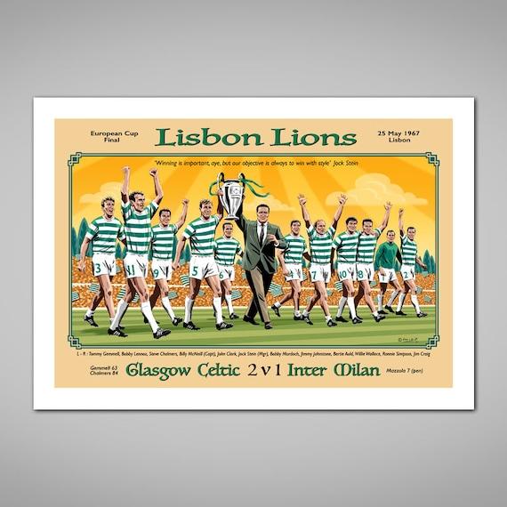 CELTIC PARK STADIUM LISBON LIONS POSTER Wall Art Photo Pic Print Poster A3 A4