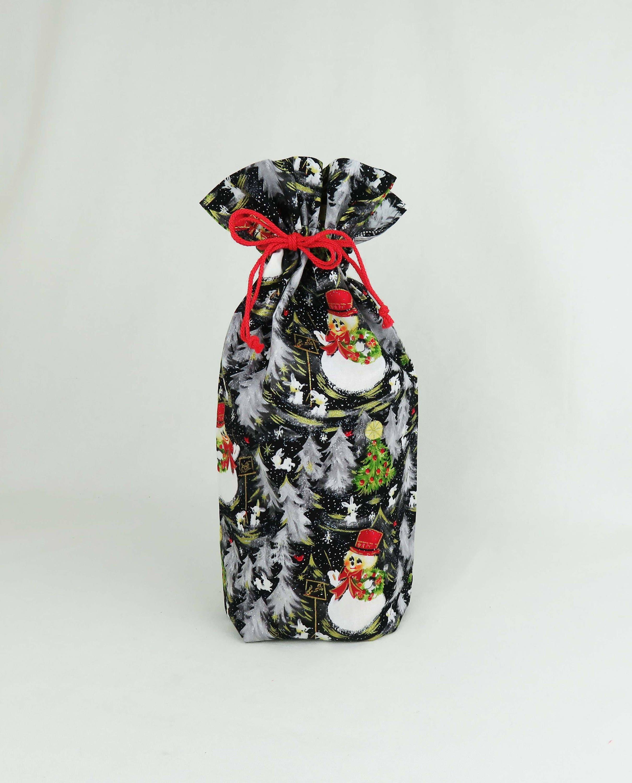 Christmas Gift Bag Jumbo Cloth Snowman Xmas Reusable Gift | Etsy