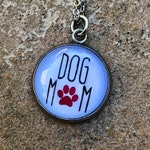 DOG MOM Necklace - Animal Rescue Jewelry - Supports Camp Cocker Rescue's Mission to Save Medical Care Dogs from High-Kill Shelters