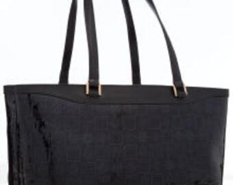 VERSACE Black Patent Leather Tote Bag c0734afa9a