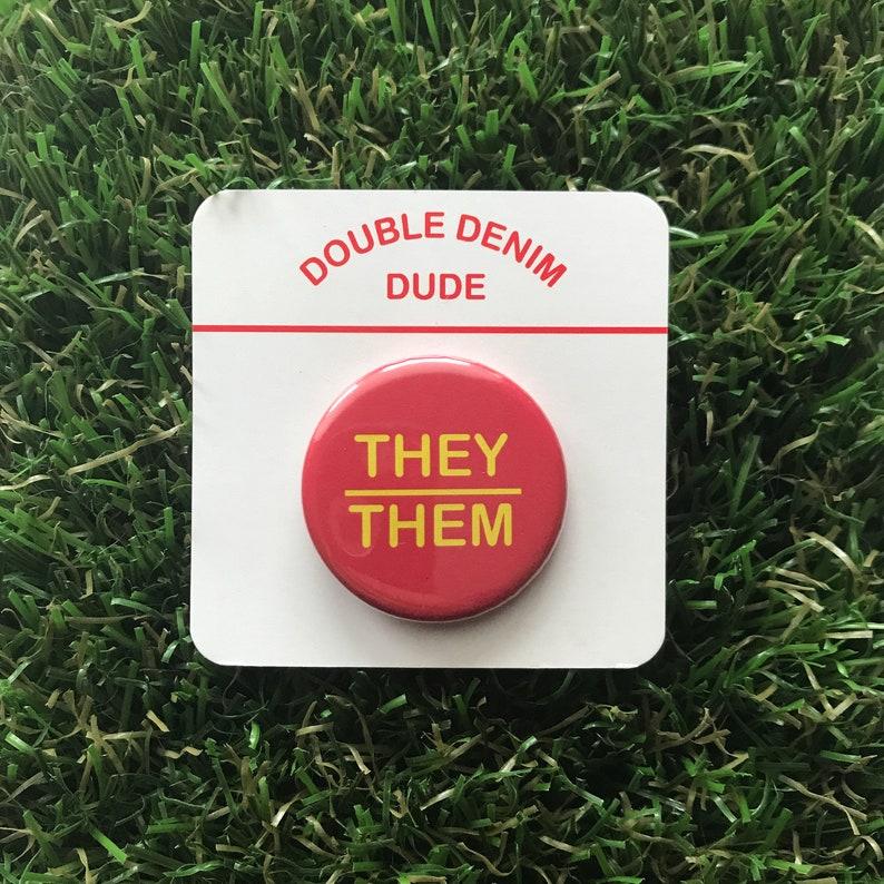 TheyThem Pronoun button--pack of 2