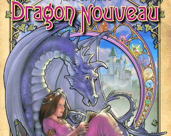 Dragon Nouveau COLORING Book, Fantasy , Adult coloring book of dragons, The Art of Herb Leonhard
