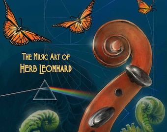 Sound In Vision, The Music Art of Herb Leonhard Volume 1, Paperback, ART  BOOK, Illustrated, Gifts for her
