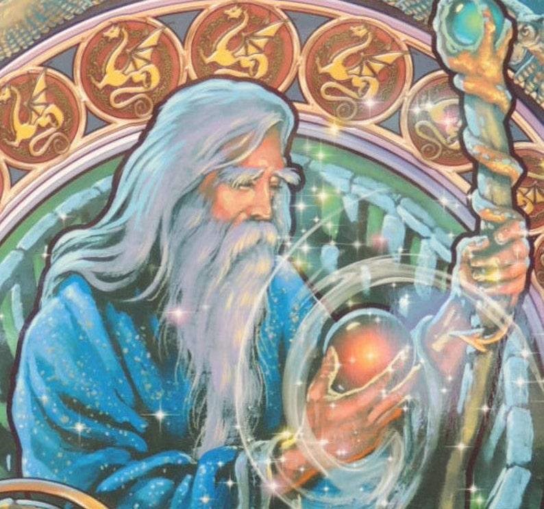 Wizard Merlin Magical magician Merlin from King Arthur   Etsy