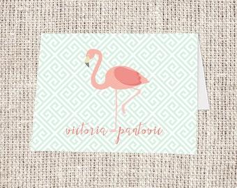 Flamingo Fold-over Note Card