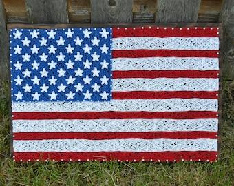 American Flag String Art