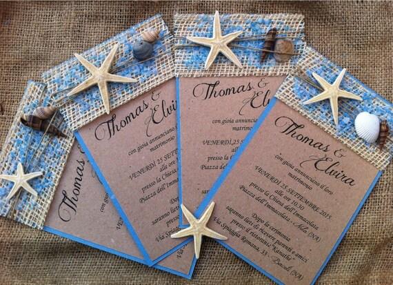 10 Sea Themed Wedding Invitations Model Type Titania Etsy