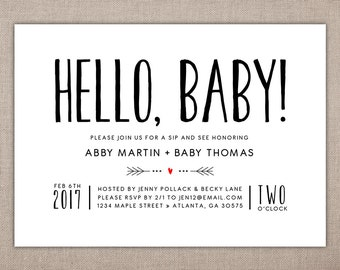 it s a boy printable baby shower invitation modern baby etsy