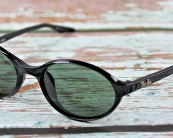 Vintage B L Ray-Ban w2833 Sleep Shiny black G15 uv sidestreet cat sunglasses 2553440f1bbf