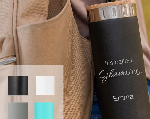 Custom Water Bottle Gift for Campers, Stainless Steel Bottle 20oz | Elemental Iconic Insulated Bottes | Best Gift for Birthdays and Holidays